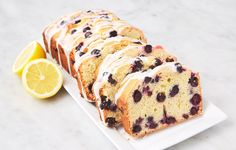 This Lemon Blueberry Pound Cake is the perfect way to celebrate—whip one up for brunch or dessert. Cream Cheeses, Stevia, Ricotta, Ketogenic Diet, Lemon Blueberry Pound Cake, Blueberry Recipes, Graham, Muffins, Breads