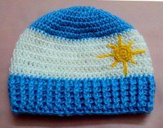 Gorro Argentino para nene en tejido crochet