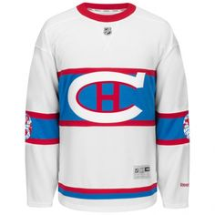 Montreal Canadiens NHL Reebok White 2016 Official Winter Classic Premier Jersey For Men Montreal Canadiens, Reebok, Hockey Sweater, Nhl Winter Classic, Nhl Jerseys, Hockey Shirts, Team Uniforms, Team Player, One Team