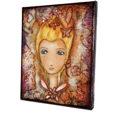 On Sale  Butterfly Fairy Queen  Original Mixed Media by FlorLarios, $80.00