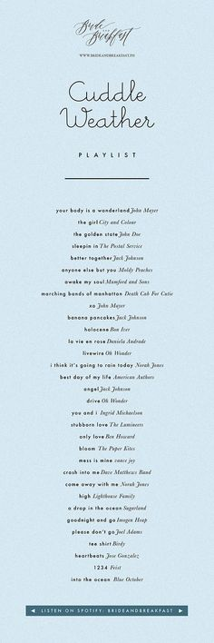 cuddle-weather-playlist | Philippines Wedding Blog
