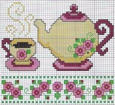 cross stitch chart--- border at the bottom for dollhouse walls or floors
