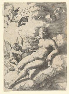Venus and Cupid - Lucas van Leyden. 157 x 111 mm. Metropolitan Museum of Art, New York City NY, USA. Satan, The Spectre, Rare Images, Aphrodite, Cupid, Drawing Reference, Venus, Renaissance, Fairy Tales