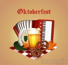 Oktoberfest element vector