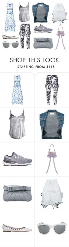 """""""Fashion Nights"""" by donna-wang1 ❤ liked on Polyvore featuring Peter Pilotto, Carven, RtA, Maison Margiela, Under Armour, Niels Peeraer, Love Moschino, Area Di Barbara Bologna, Valentino and The Row"""