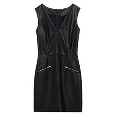 Zara Leather Zipped Dress