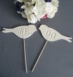 Cake toppers with any word or templates