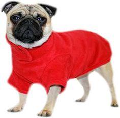 A beautiful Red Fleece Dog Coat http://www.barkingmadclothing.co.uk/dogcoats_red.html
