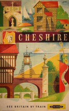 Original Vintage Posters - Travel Posters - Cheshire - AntikBar
