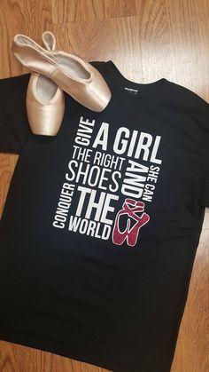 Ballet Pointe Shoe Shirt. Dance T-Shirt. Girls Ballet Tee Shirt. Glitter Dance Shirt, Pointe Shoes, Ballet Shoes