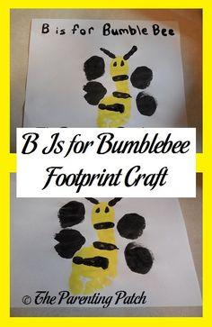 B Is for Bumblebee Footprint Craft