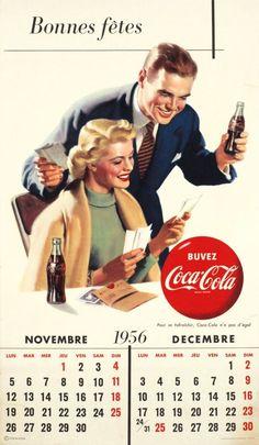 Buvez Coca Cola, Bonnes fêtes, Novembre & Décembre 1956 by Emka / 1949