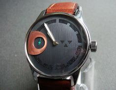 Wristwatch in Stainless Steel with handcrafted Cognatic Dial 1 by wilkwatchworks