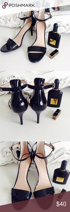 BP Black Patent ankle strap heels Size 9.5 NEW Brand new never worn ankle strap black patent heels from BP Size 9.5 BP Shoes Heels