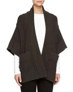 Kimono-Sleeve Open Jacket by Stella McCartney