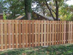 Cedar Shadowbox Semi-Privacy Fences