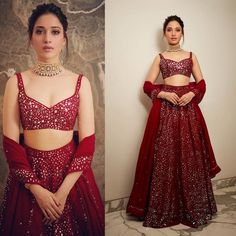 Best Lehenga Looks To Steal From Our Favourite South-Indian Sensations! - Source by shreyanshin - Indian Wedding Gowns, Indian Gowns Dresses, Indian Bridal Outfits, Indian Designer Outfits, Choli Designs, Fancy Blouse Designs, Sonam Kapoor, Deepika Padukone, Lehnga Dress