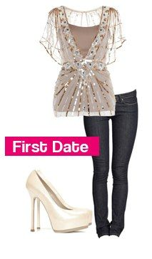Skinnies, heels, scoop tank with sparkly/flowy/lowcut shirt over top · first date outfitsmom First Date Outfits, Mom Outfits, Club Outfits, Casual Outfits, Vegas Outfits, Party Outfits, Night Out Outfit, Night Outfits, Sexy Date Outfit