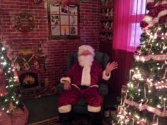 Ted played Santa at the town historical museum!