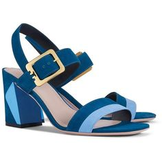 Tory Burch Palermo Leather Sandals ($325) ❤ liked on Polyvore featuring shoes, sandals, cut out sandals, tory burch, cut-out shoes, colorblock sandals and mid heel shoes