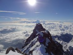 Looking over the Grenzgipfel from Dufourspitze summit