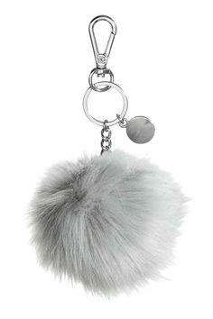 Metal key ring with a carabiner hook and soft faux fur pompom. H&m Sale, Lady Grey, Crochet Patterns For Beginners, Love Crochet, Key Rings, Women's Accessories, Faux Fur, Latest Trends, Great Gifts