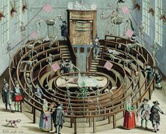 "deathandmysticism: ""Anatomical theater, Amsterdam, Royal Library of Belgium, 1649 """