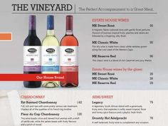 The Vineyard - The Perfect Accompaniment to a Great Meal.