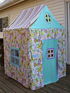 "PVC frame with play house cover Decorate as a reading corner or as a ""play"" house for readers' theater"