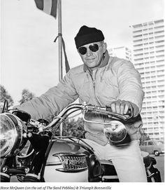 Steve McQueen & Triumph Bonneville