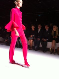 All pink everything at the Gucci show.