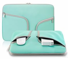 Evershop® Zipper Briefcase Handbag Sleeve Bag Cover Case for Macbook Air & PRO 11 inch & Universal Laptop Netbook 11 inch (Teal), http://www.amazon.com/dp/B01486SP44/ref=cm_sw_r_pi_awdm_00FUwb0FWQV4C