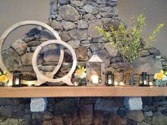 Mantle display at Harrington Farm by Jeff French Designs