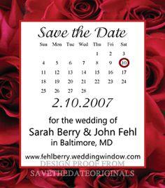 Rose border wedding save the date magnet