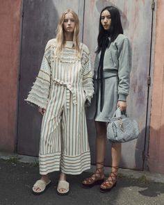 See by Chloé Resort 2017 Fashion Show  Wow, what do you know--a Chloe-related line actually booked a model of colour. This design house is notorious for having campaigns seriously lacking in diversity--just look at their lookbook from last year: http://www.theclosetfeminist.ca/whiteness-resort-2016/   http://www.vogue.com/fashion-shows/resort-2017/see-by-chloe/slideshow/collection#12
