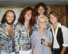 Bee Gees with their Mom and Andy