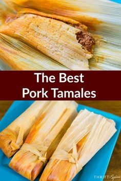 Pork Tamales (Tamales de Puerco) - - Pork Tamales (Tamales de Puerco) Mexican Food Learn how to make authentic pork tamales with step by step directions. This delicious Mexican recipe is very popular during the holidays. Give them a try! Authentic Mexican Recipes, Authentic Tamales Recipe, Mexican Pork Recipes, Mexican Cooking, Mexican Dishes, Recipe For Tamales, Tamale Meat Recipe Pork, Mexican Desserts, Tex Mex Tamale Recipe