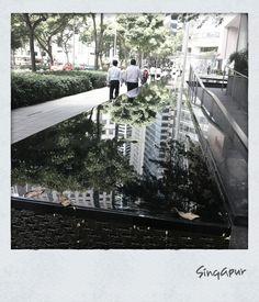 fountain. Singapore.