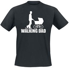 Camiseta para padres zombis o padres primerizos que duermen poco. Un genial guiño a la serie The Walking Dead: El paseo de un padre primerizo zombi Este conjunto de camisetas para padres e hijos es el regalo ideal para que el nuevo papá, salga orgulloso a pasear con su mini-yo de la mano. #regalos #padresprimerizos