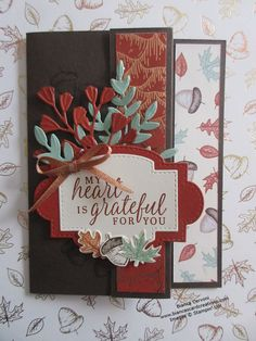 Thanksgiving Greeting Cards, Holiday Cards, Christmas Cards, Leaf Cards, Autumn Cards, Fun Fold Cards, D 20, Stamping Up Cards, Card Kit