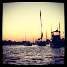 Newport Harbor Sunset