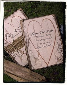 Save The Date / birch Tree / rustic / woodland by cuteNtrendy