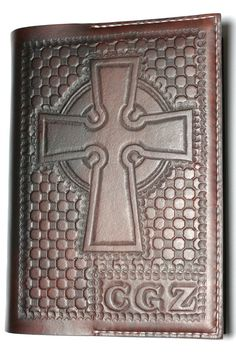 CraftyGirl Creates features Etsy finds, DIY projects, recipes and Leather Bible Cover, Bible Covers, Custom Leather, Natural Leather, Leather Working, Leather Craft, Hand Stitching, Hand Stamped, Are You The One