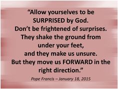 Ask the Holy Spirit if you´re moving FORWARD in the right direction. Read more at: www.zenit.org/en/articles/pope-s-address-to-young-people