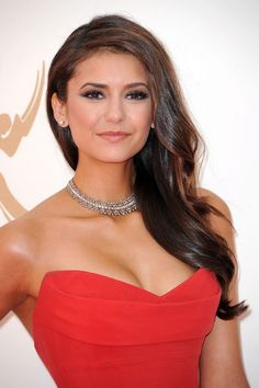 Nina Dobrev was all glitz and glamour with super smoky eyes and a fantastic ...