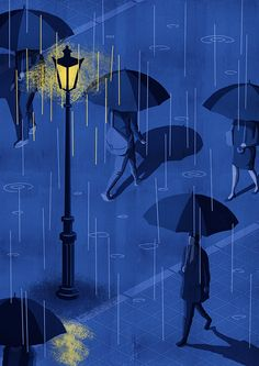 Prints are abailable on Illustration Ligne, Night Illustration, Landscape Illustration, Rainy Wallpaper, Cute Wallpaper Backgrounds, Night Aesthetic, Aesthetic Art, Rainy Night, Sky Night