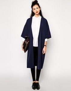 Monki Tailored Kimono - Navy