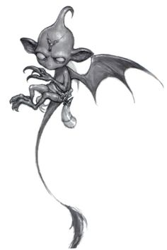 Devil, Imp (from the fifth edition D&D Monster Manual