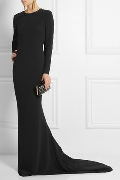 37e2478d949 Ease and movement were Stella McCartney s focuses for fall. Crafted from  sculpting stretch-crepe