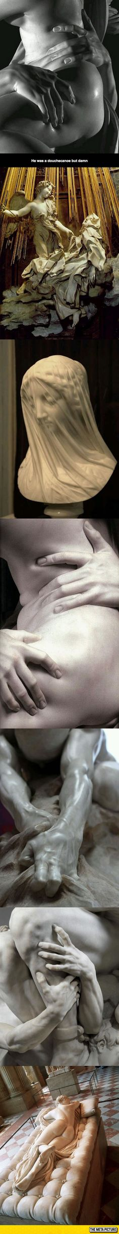 Sculptor Gian Lorenzo Bernini Did All This Using Marble In The 17th Century